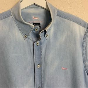 Harmont & Blaine Narrow Fit Denim Shirt 2XL